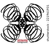 black marker abstract shape  ...   Shutterstock .eps vector #221961931