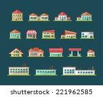 set of vector flat design... | Shutterstock .eps vector #221962585