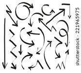 set of arrows  vector... | Shutterstock .eps vector #221965975