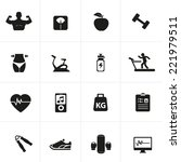 fitness and health icons | Shutterstock .eps vector #221979511