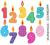 Birthday Candles Clip Art Set....