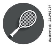 tennis racket sign icon. sport...
