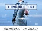 businessman making decision on...   Shutterstock . vector #221986567