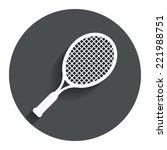 tennis racket sign icon. sport...