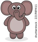 an elephant standing | Shutterstock .eps vector #221989411