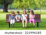 Cheerful Group Of Children...