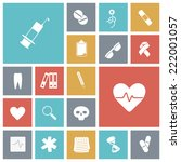 flat design icons for medical.... | Shutterstock .eps vector #222001057
