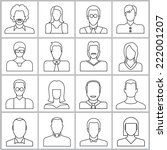 people icons set  office people ... | Shutterstock .eps vector #222001207