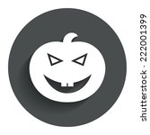halloween pumpkin sign icon....