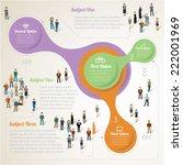human infographics.retro vector ... | Shutterstock .eps vector #222001969