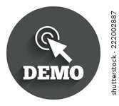 demo with cursor sign icon....
