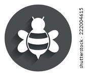 bee sign icon. honeybee or apis ...