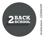 back to school sign icon. back...