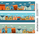Town Seamless Patterns With...