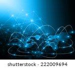 best internet concept of global ... | Shutterstock . vector #222009694