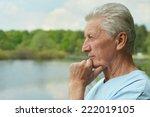 portrait of smiling elderly man ... | Shutterstock . vector #222019105