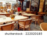 street view of a coffee terrace ... | Shutterstock . vector #222020185