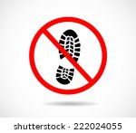 imprint soles shoes sign icon.... | Shutterstock .eps vector #222024055
