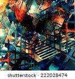abstract illustration. virtual... | Shutterstock . vector #222028474