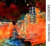 grunge urban background | Shutterstock . vector #222028585