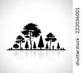 forest silhouette icon. | Shutterstock . vector #222036001