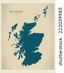 modern map   scotland uk | Shutterstock .eps vector #222039985
