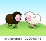 Brown Lam And White Sheep...