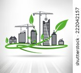 green urban development concept.... | Shutterstock .eps vector #222042157