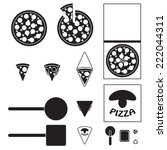 pizza icons set | Shutterstock .eps vector #222044311