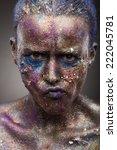portrait of woman with unusual... | Shutterstock . vector #222045781