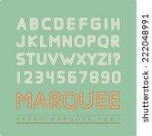 retro marquee font | Shutterstock .eps vector #222048991