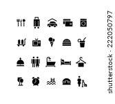 hotel icons | Shutterstock .eps vector #222050797
