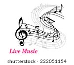 live music poster template with ... | Shutterstock .eps vector #222051154
