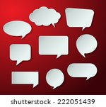 speech bubble cut paper design... | Shutterstock .eps vector #222051439