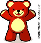 Smiling Teddy Bear Vector...