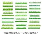large set of fresh green spring ... | Shutterstock .eps vector #222052687