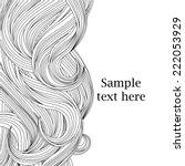 hair outlined background  | Shutterstock .eps vector #222053929
