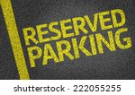 parking space reserved for... | Shutterstock . vector #222055255