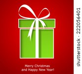 modern xmas greeting card with...   Shutterstock .eps vector #222056401