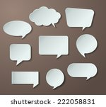 speech bubble cut paper design... | Shutterstock .eps vector #222058831