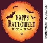 happy halloween greeting card. ... | Shutterstock .eps vector #222060637