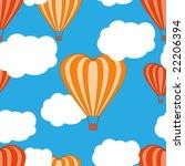 heart shaped hot air balloons... | Shutterstock . vector #22206394