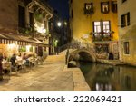night view of canal in venice ... | Shutterstock . vector #222069421