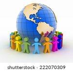 global communication concept.... | Shutterstock . vector #222070309