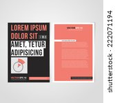 flyer template back and front... | Shutterstock .eps vector #222071194