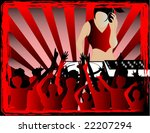 vector illustration of a dj and ...   Shutterstock .eps vector #22207294