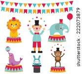 circus vector set | Shutterstock .eps vector #222073879