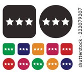 rating icon. ranking icon. rate ... | Shutterstock .eps vector #222079207