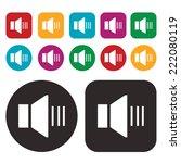 sound icon. speaker icon. vector