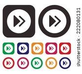 forward icon. fast forward...   Shutterstock .eps vector #222080131